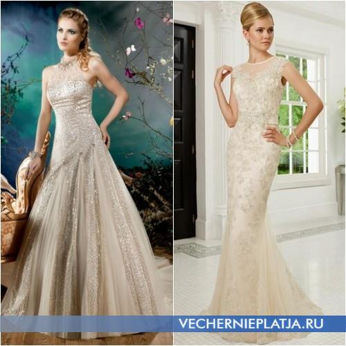 Красивые ткани для платьев цвета шампань