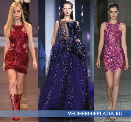 Полупрозрачные новогодние платья 2015 фото
