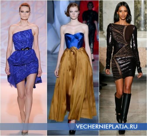 Оригинальные модели платьев на Новый год 2015