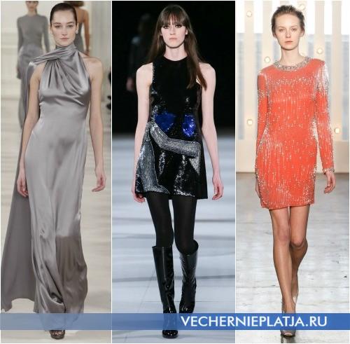 Серебристые платья и декор на новый год 2015
