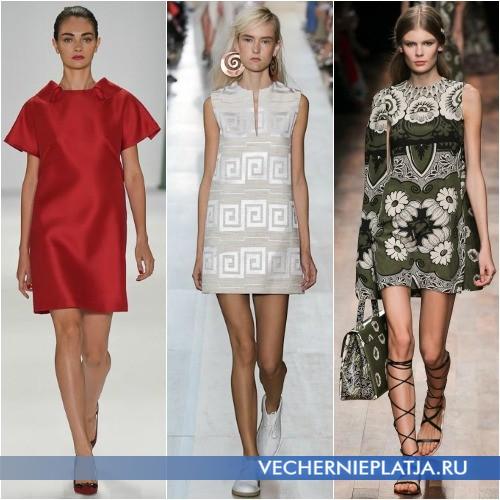 Короткие платья А-типа Весна-Лето 2015 фото