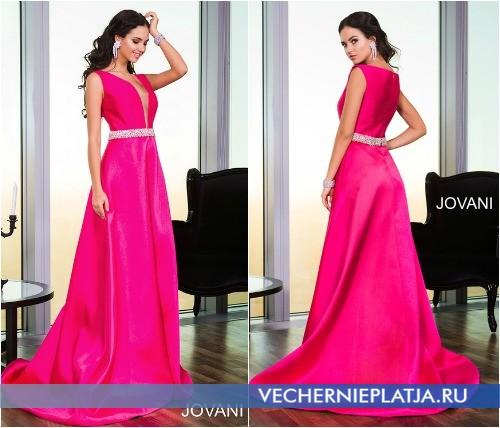 Платье Jovani на выпускной 2015 приталенное расширяющееся к низу