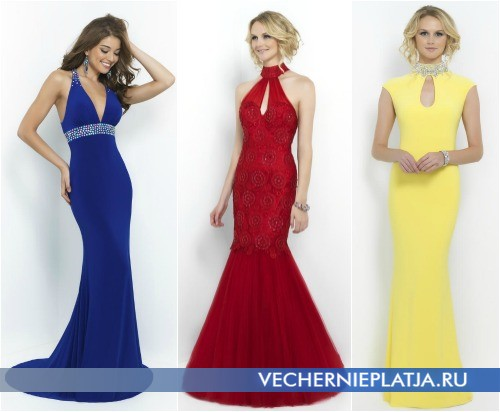 Длинные платья русалка и годе на выпускной