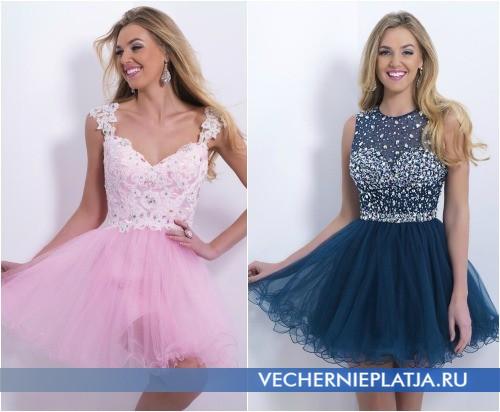 Короткие платья с юбкой-пачкой на выпускной 2015