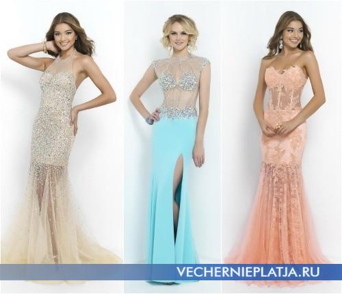 Модели платьев на выпускной 2015 с прозрачными элементами