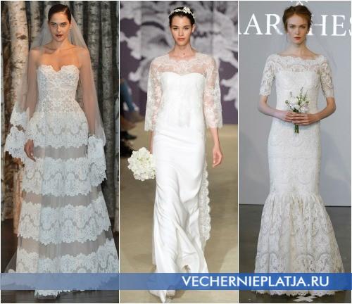 Кружевное свадебное платье 2015 тенденции