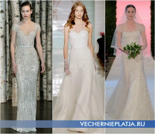 Свадебные платья с вышивкой 2015