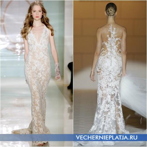 Свадебные платья из прозрачных тканей 2015 года