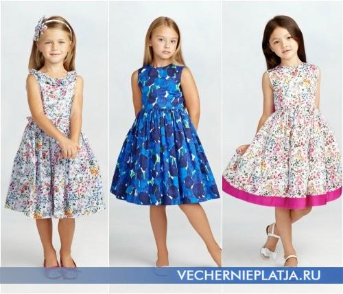 Нарядные платья для девочек от Оскара де ла Ренты 2015 фото