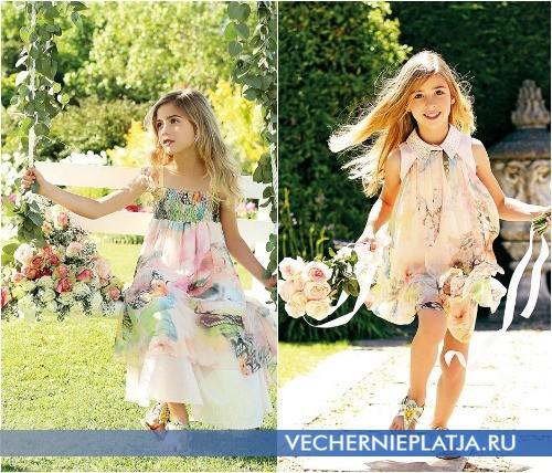 Нарядные летние платья для девочек Мисс Блюмарин 2015