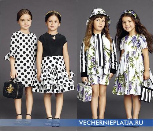 Детские нарядные платья 2015 от Dolce Gabbana