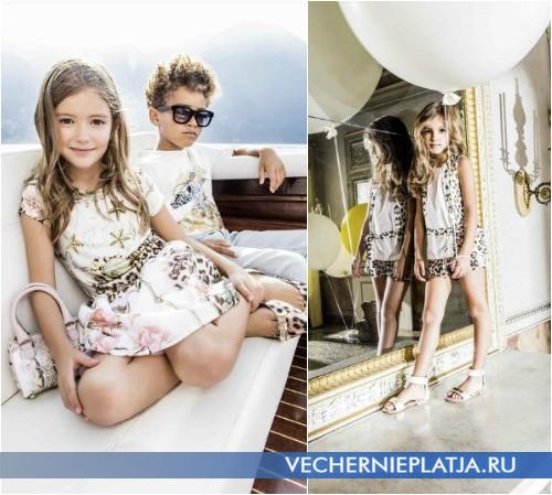 Детская коллекция платьев Roberto Cavalli Весна-Лето 2015