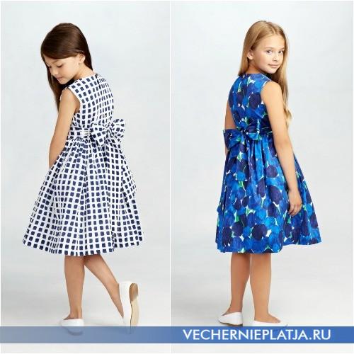 Бант сзади на детском платье, фото Oscar de la Renta