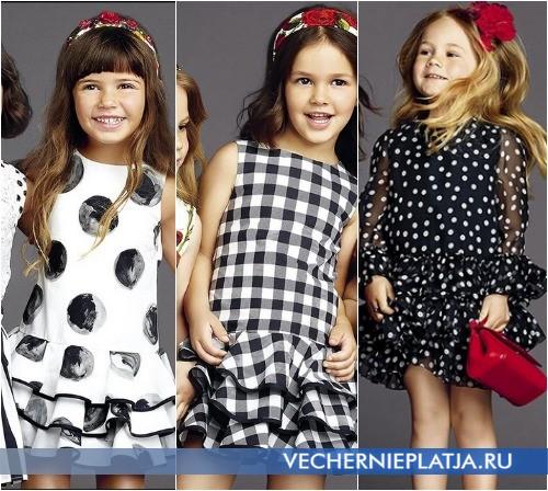 Детские платья для девочек нарядные с пышной юбкой, коллекция Dolce Gabbana