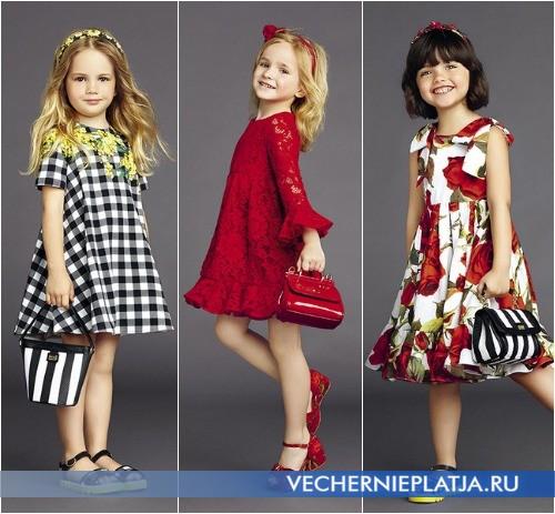 С чем носить детское нарядное платье, выбор Dolce Gabbana