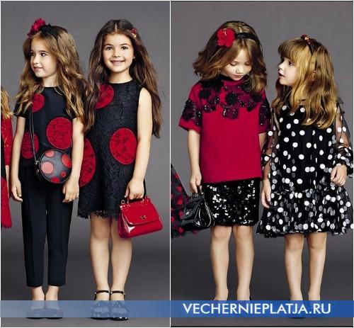 Как носить детские платья для девочек нарядные Dolce Gabbana