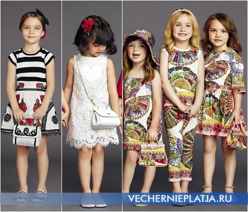Аксессуары к нарядным детским платьям Dolce Gabbana