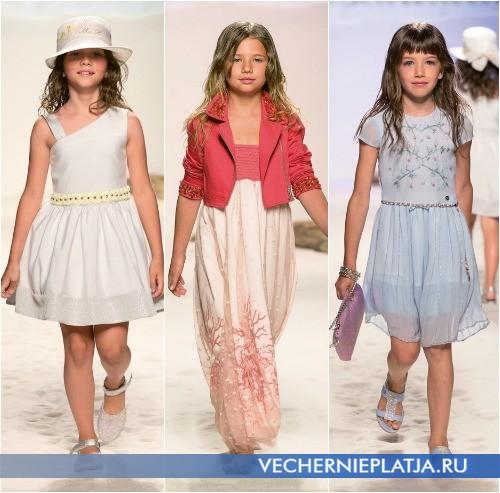 С чем носить платья нарядные детские Miss Blumarine