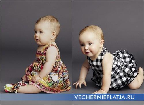 Платья для маленьких девочек от Dolce Gabbana