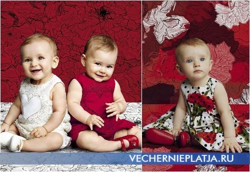 Яркие нарядные платья для малышек от Dolce Gabbana