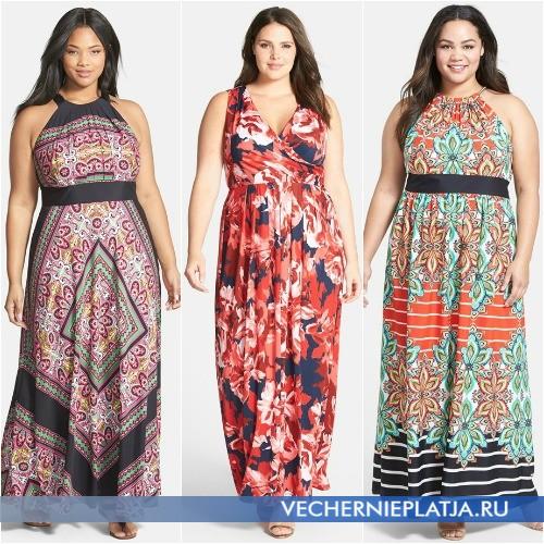 летние платья и сарафаны 2015 для полных