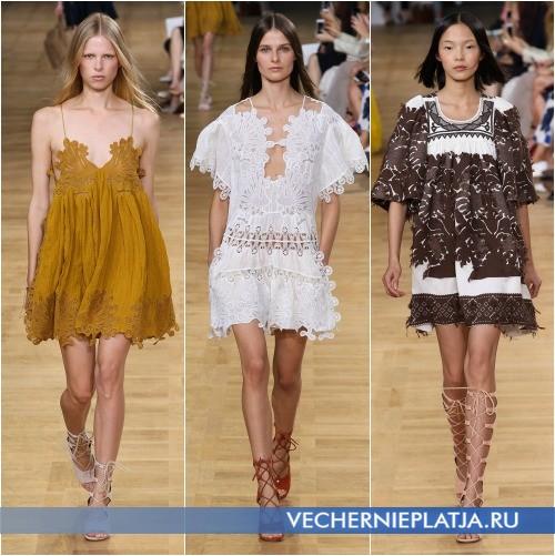 Выбитые платья из хлопка 2015 лето