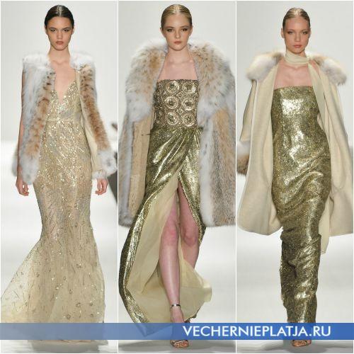 Меховые накидки и шубки для длинных платьев на Новый год 2016