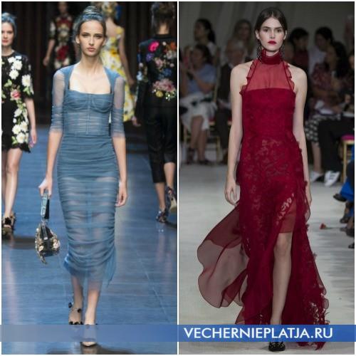 Летние прозрачные платья 2016 фото