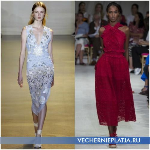 Платья с перфорацией и пайетками для лета 2016 фото