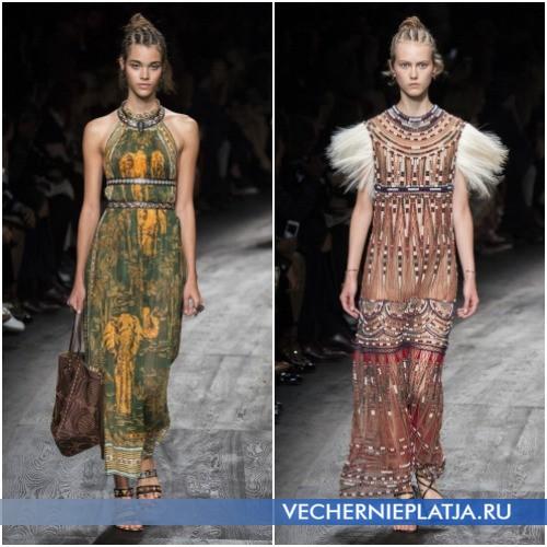 Длинные летние сарафаны и платья 2016 в этническом стиле