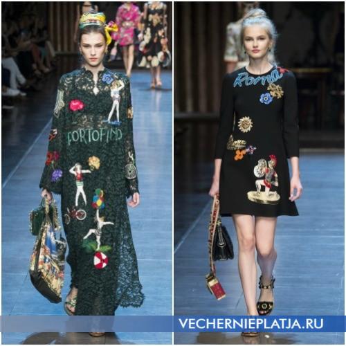 Модные платья с надписями Весна-Лето 2016