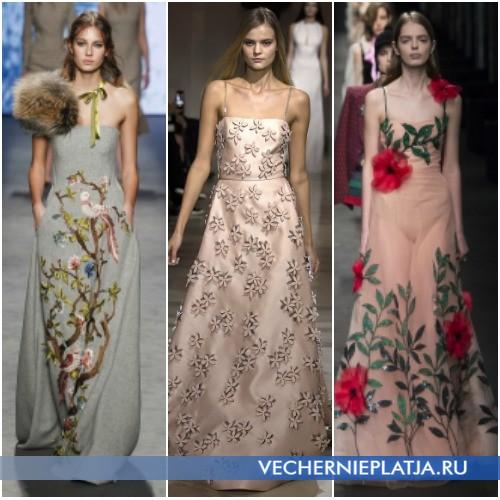 Красивые вечерние платья Осень-Зима 2016-2017 А-силуэта
