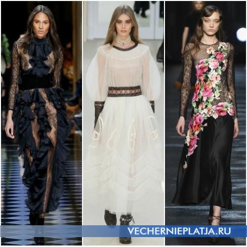 Вечерние ажурные платья Осень-Зима 2016-2017