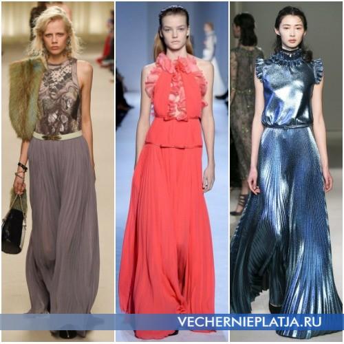Вечерние платья-плиссе 2016-2017 года фото