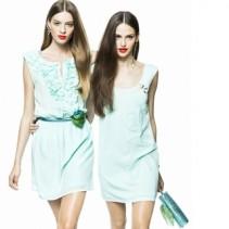 Мятные платья: модный цвет женственного наряда