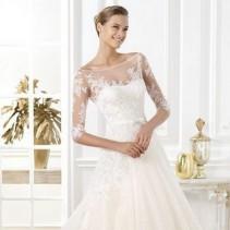 Свадебные платья с кружевным верхом: загадочность, утонченность и нежность