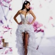 Облик невесты-принцессы в свадебном платье со шлейфом