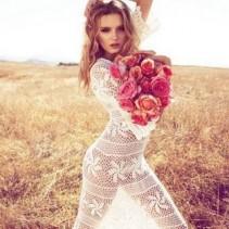 Вязаные летние платья – ажурные прелести