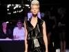 Черное короткое платье с асимметричным низом от Jean Paul Gaultier