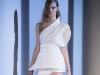 Белое асимметричное платье на одно плечо Весна-Лето 2014 от Mugler