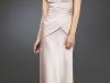 Длинное бежевое платье