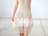 Шифоново бежевое платье от Jonathan Saunders