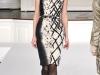 Бежевое с черным платье осень-зима 2011-2012 Oscar de la Renta