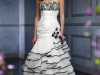 Черно белые свадебные платья