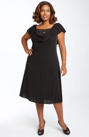 Сшить платье для полной женщины на осень 49