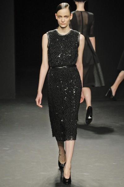 Модные черные платья осень зима 2012 2013