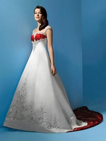 Цветные свадебные платья 2015 7