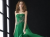 Длинное выпускное платье 2014 зеленое