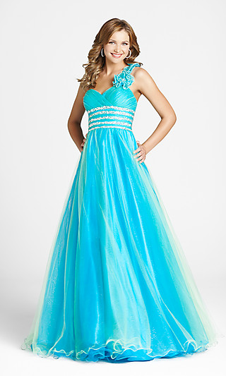 Свадебное платье голубого цвета 3