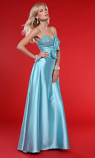 Свадебное платье голубого цвета 4